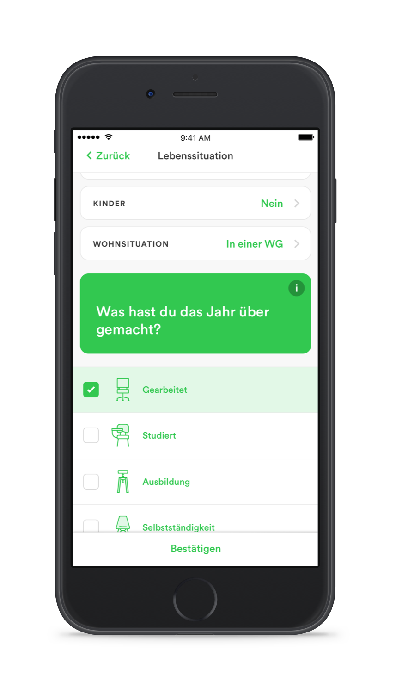 taxfix iphone deutsch 2