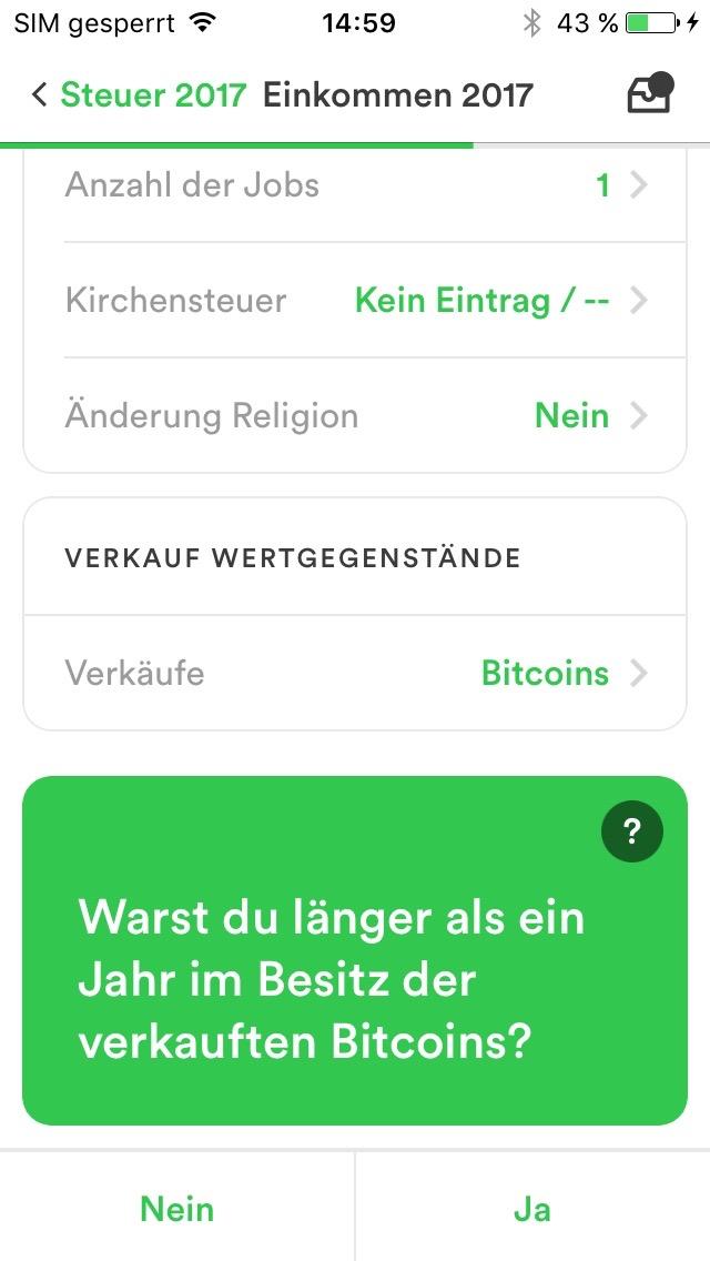 Bitcoin Und Steuer Taxfix
